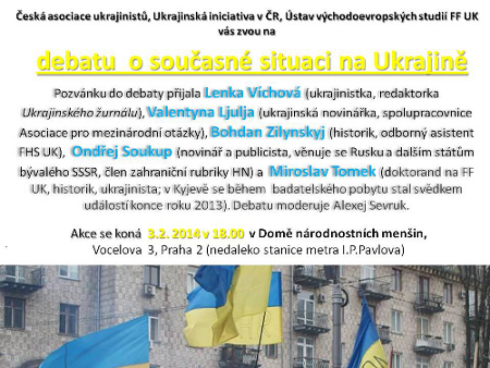 Debata o souasn situaci na Ukrajin